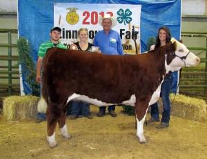 2012 Supreme Champion Female Linn County Fair KF Andie